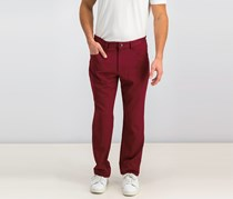I.n.c. Men's Shiny Slim-Fit Stretch Pants, Chinese Apple