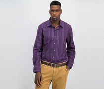 Mens Striped Button Down Shirt, Berry Combo