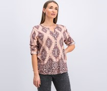Style & Co Printed Utility Top, Natural Blush
