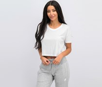 New Balance Women's Sport Cropped Tee, White