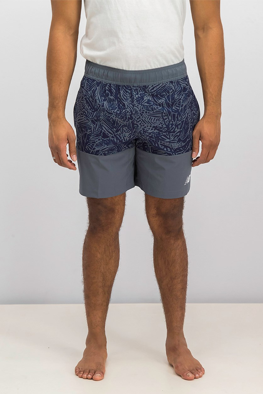 Men's Essential Board Short, Blue/Grey