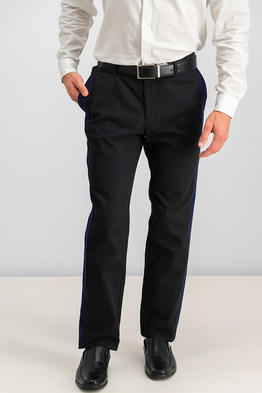 Men's Slim-Fit Stretch Pants, Black/ Blue