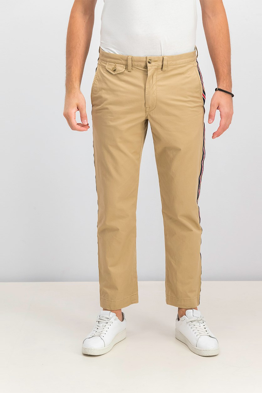 Men's Stretch Straight Fit Chino Pants, Tan