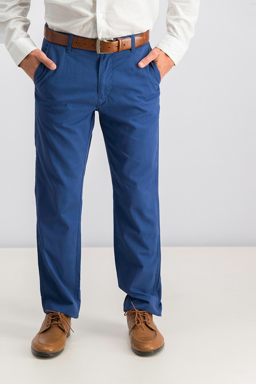 Men's Pants, Washed Blue