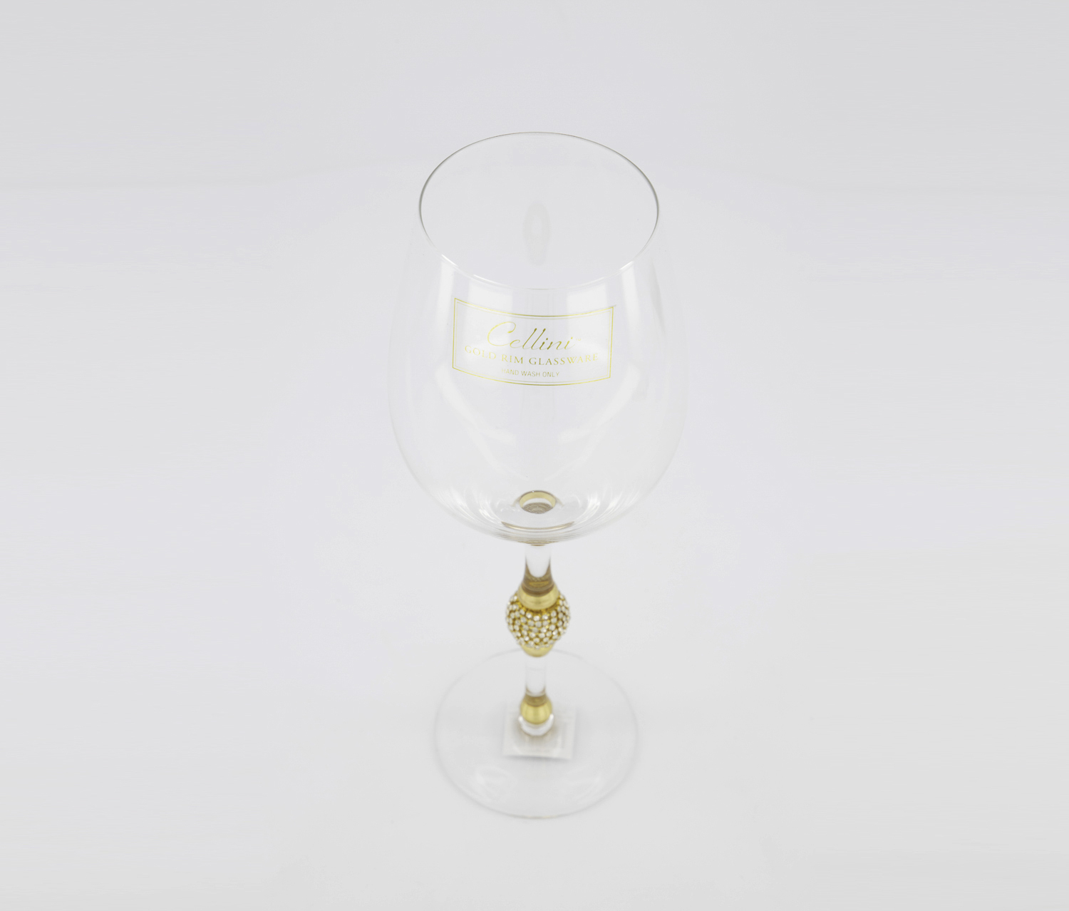 Gold Rim Glassware, Transparent