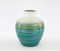 Home Essentials Ribbed Ombre Vase, Teal