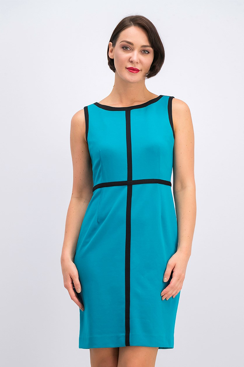 Women's Bodycon Dress, Blue/Black