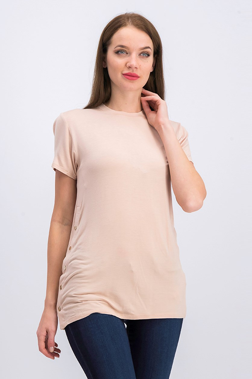 Mariana Top, Sheer Beige/Blush