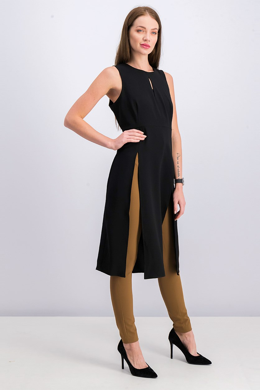 Women Loren Tunic Top, Black