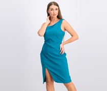 Likely Womens Helena Knit One Shoulder Cocktail Dress, Harbor Blue