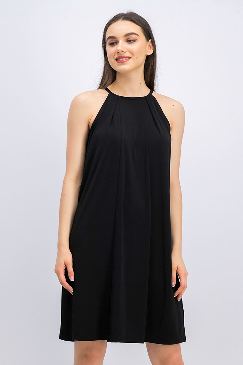 Women's Halter Shift Dress, Black