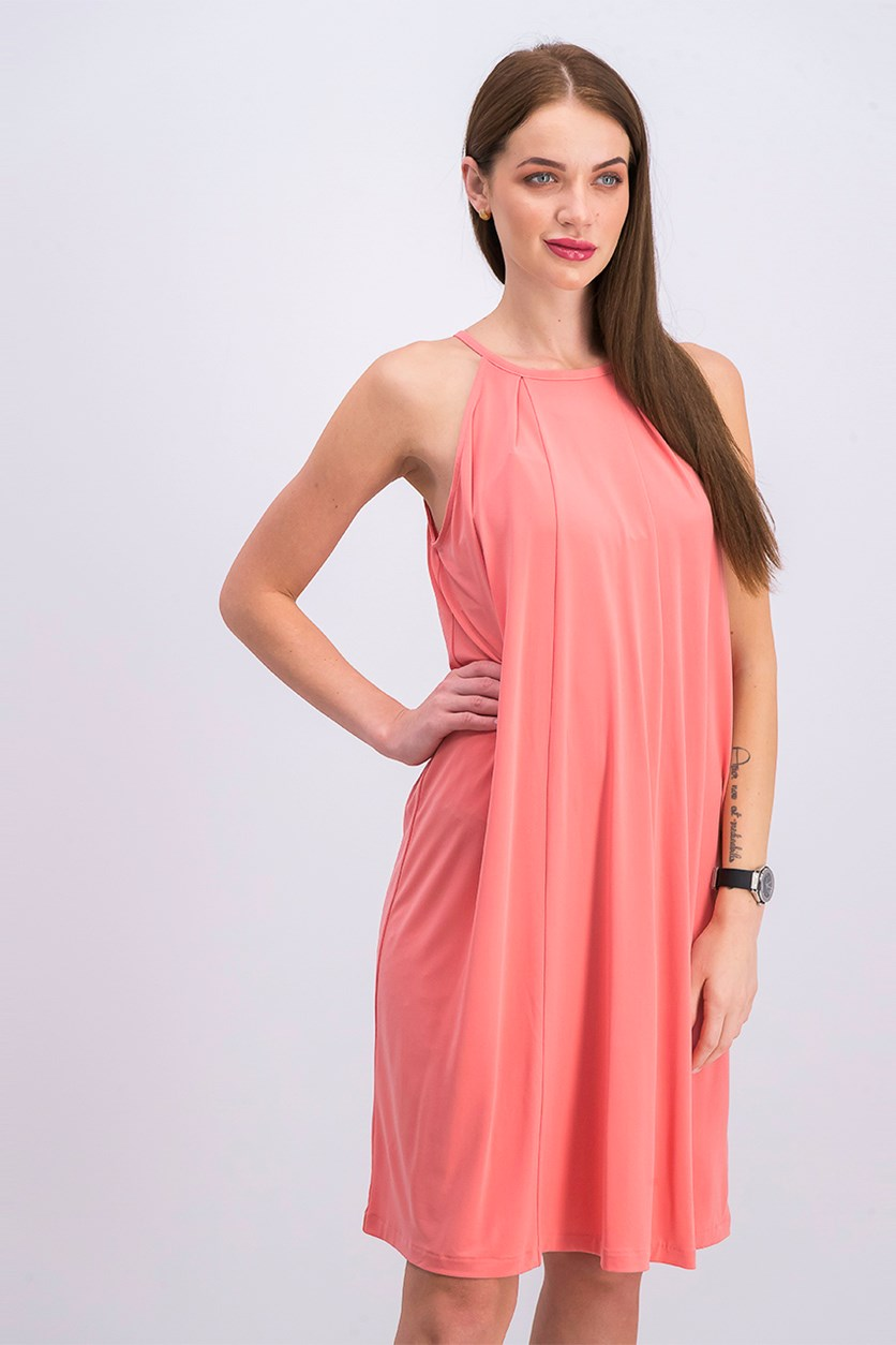 Women's Halter Shift Dress, Papaya