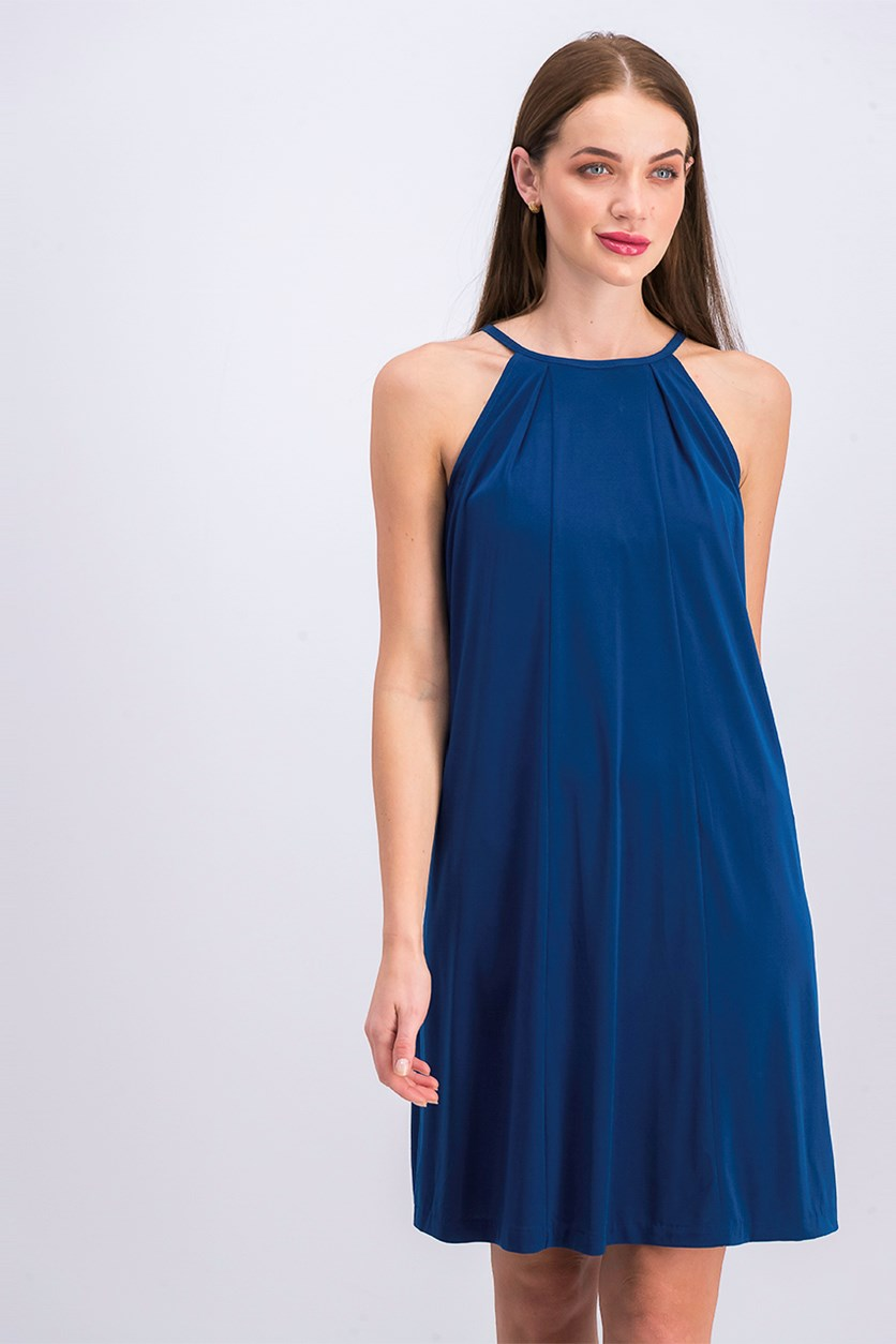 Women's Halter Shift Dress, Ocean
