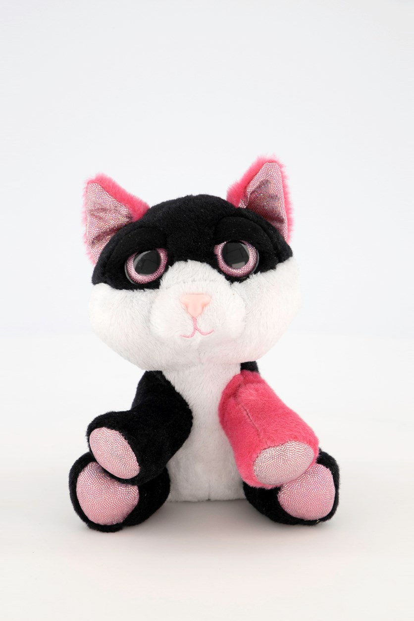 Lil Peepers Diva Cat with Pink Sparkle Accents, Black/Pink