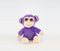Russ Berrie Lil Peepers Indigo The Monkey, Purple