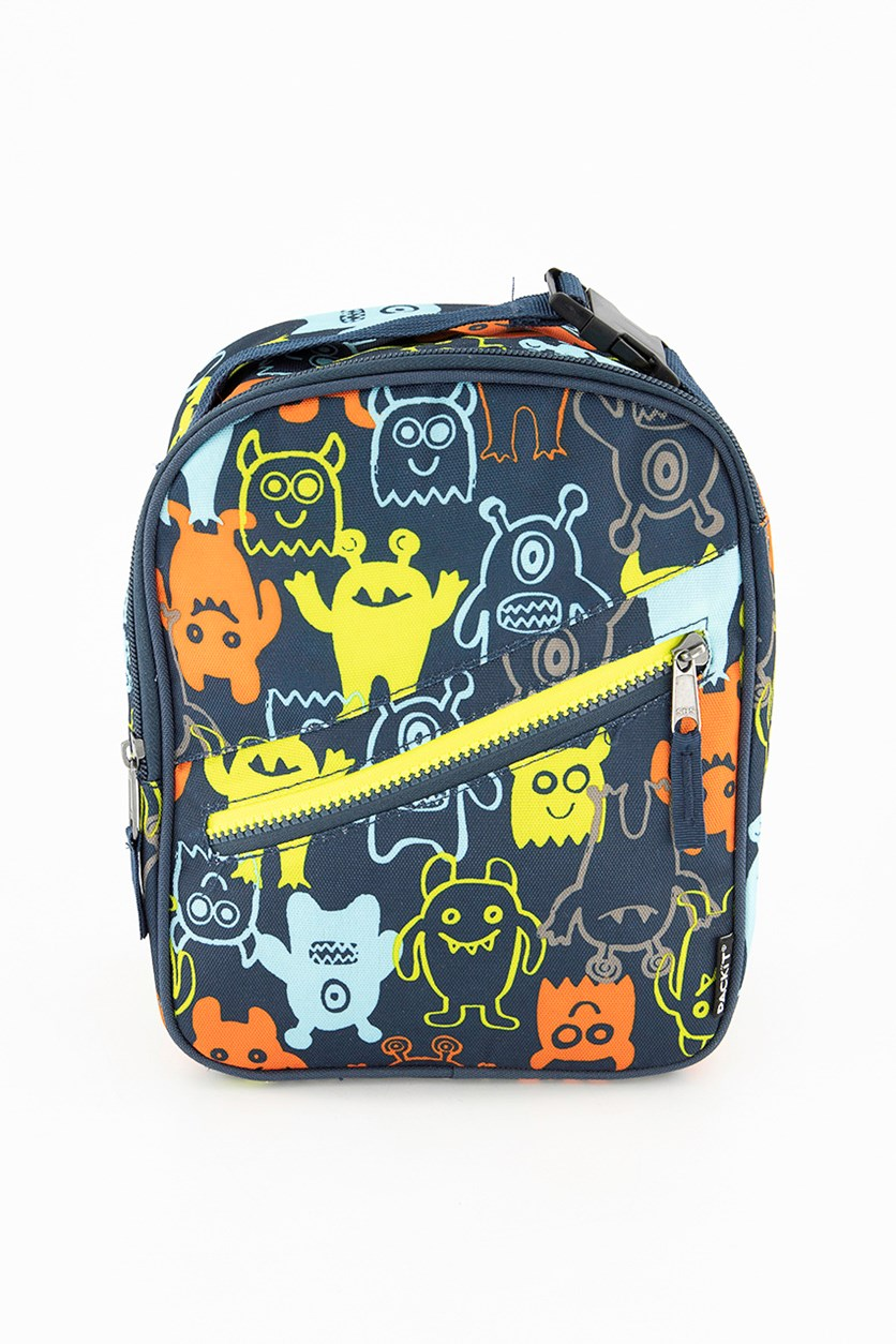 Pack It Freezable Classic Lunch Box Monster, Navy Combo