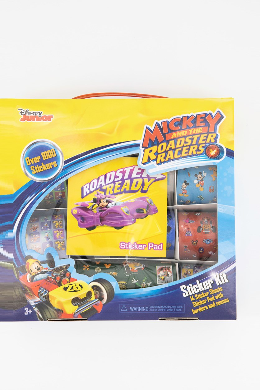Mickey and The Roadster Racers Sticker Kit,, Blue/Yellow