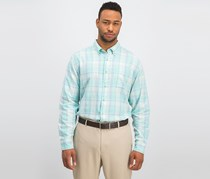 Southern Tide Men's Plaid Casual Shirt, Offshore Green