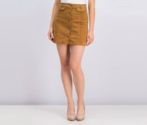 Fashion On Earth Women's Button Fly Skirt, Camel