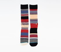 Stance Churches Men's Colorful Socks, Red Combo