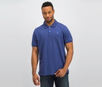 Tahari Classic Pique Polo Shirt, Denim Blue