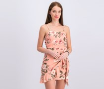 Women's Side-Tie Ruffled Party Dress, Blush