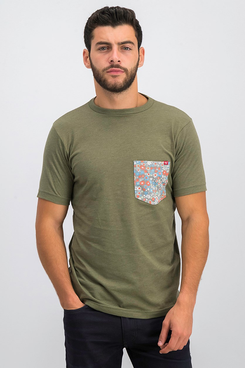 Men's Chest Pocket Tee, Heather Sage