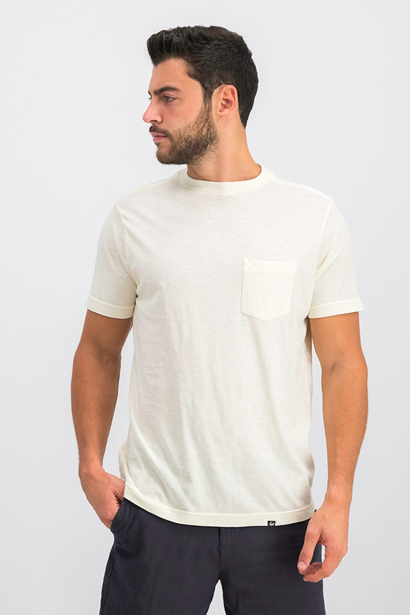 Men's Chest Pocket Tee, Ivory