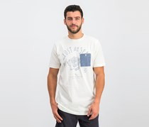 Lost Men's Chest Pocket Tee, Off White