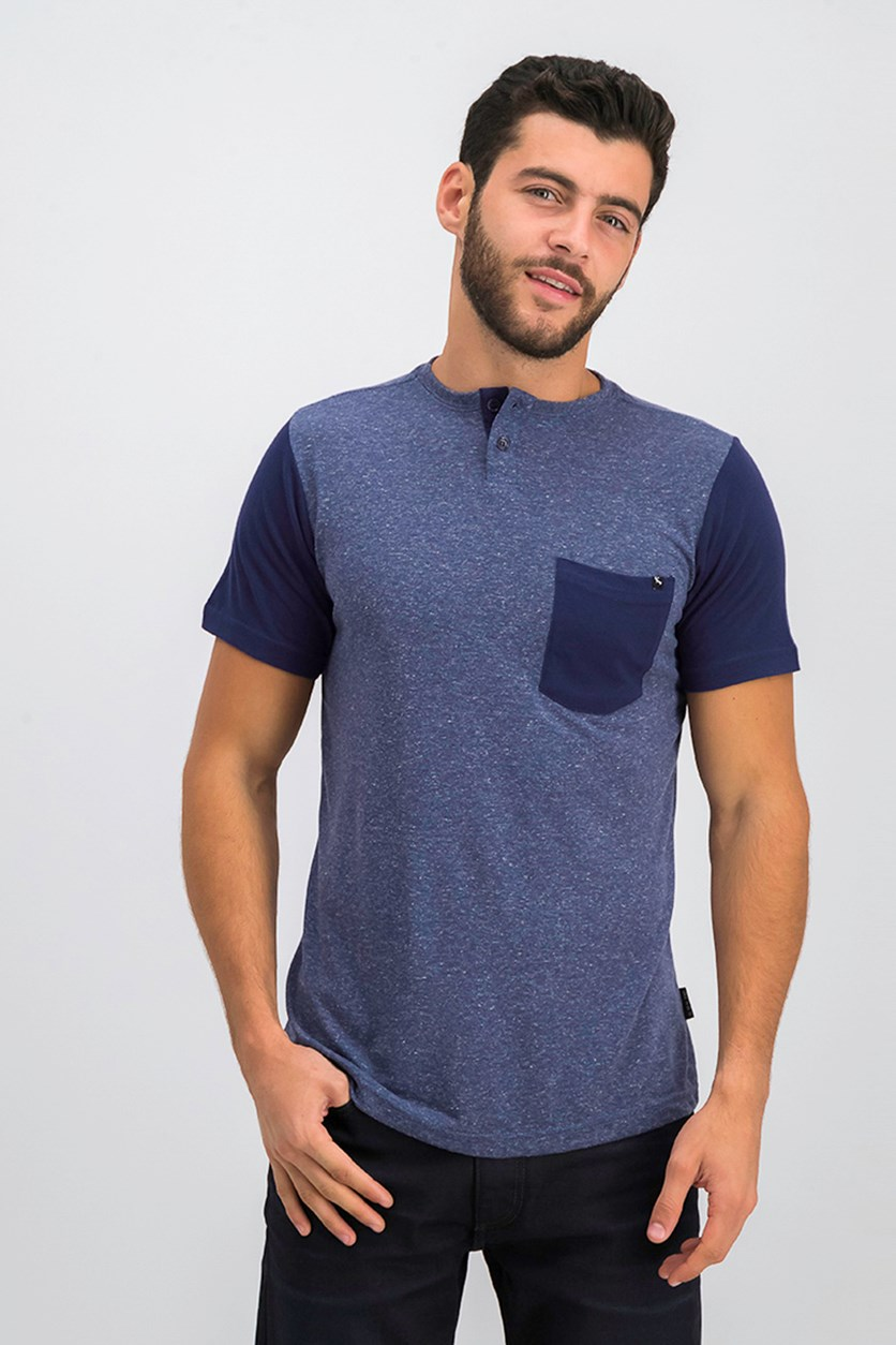 Men's Chest Pocket Tee, Indigo Heather