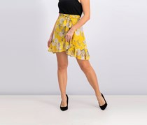 Lucy Paris Women's Floral Skirt, Yellow