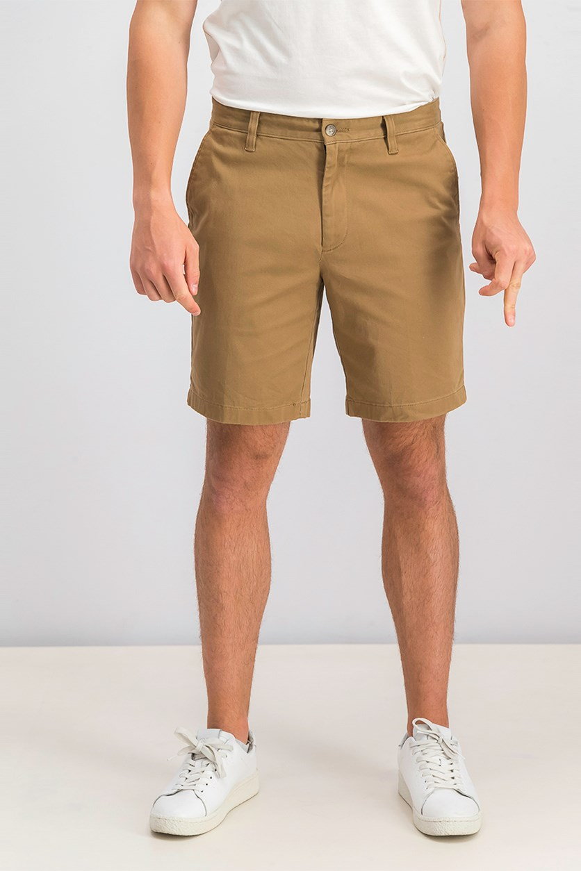 Mens Classic-Fit Stretch Deck Short, Oyster Brown