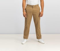 Nautica Men's Classic Fit Flat Front Deck Pants, Oyster Brown