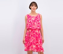 Calvin Klein Floral-Print Belted Popover Dress, Pink Combo
