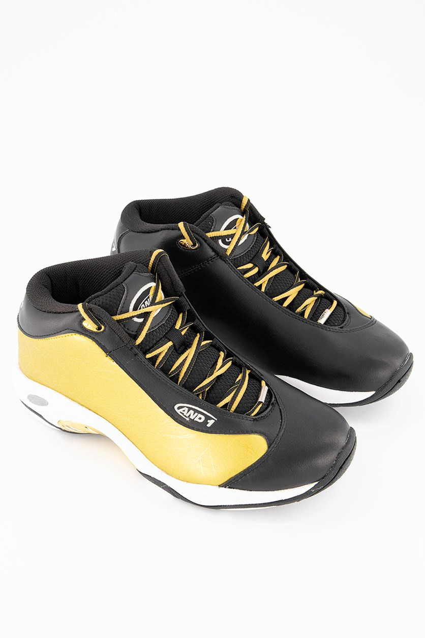 Men Tai Chi Sport Shoes, Black/Gold/White