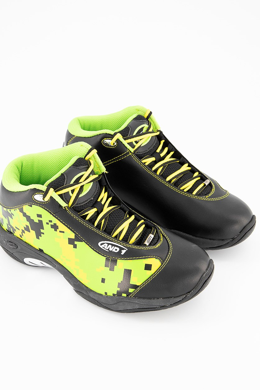 Men Tai Chi Shoes, Camo/Black/Green