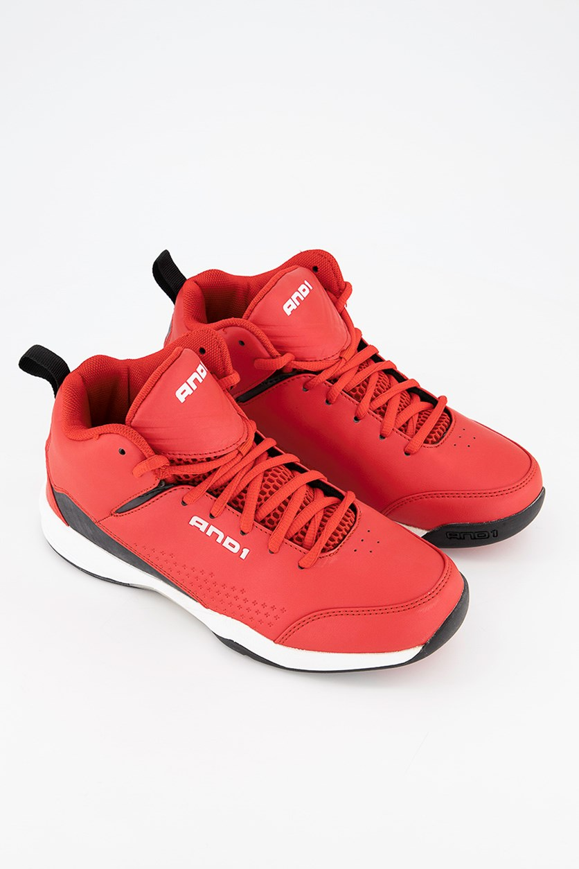 Boys Streak Basketball Shoes, Red/Black/White