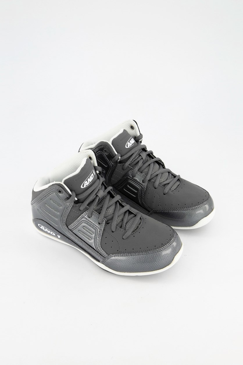 Boys Rocket 4 Lace Up Shoes, Gray