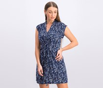 French Connection Remi Floral-Print Dress, Indigo Blue