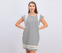 Rachel Roy Womens Jules Striped Cap Sleeves Casual Dress, Cream Combo