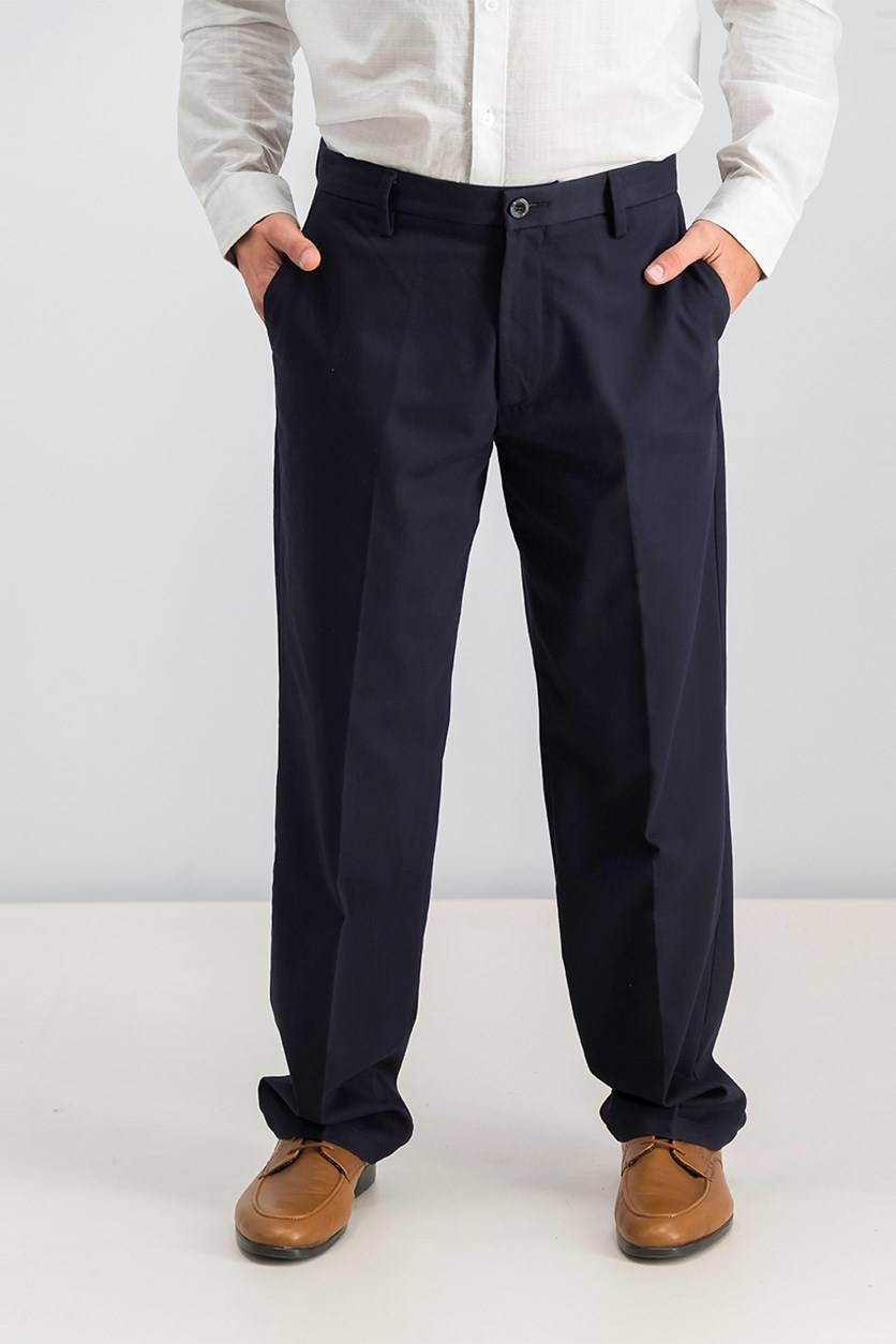 Men's Signature Classic-Fit Pants, Navy