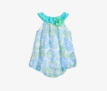 First Impressions Starburst-Print Bubble Romper, Lime Scented