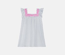 Epic Threads Girls Embroidered-Neck Peasant Dress, Bright White