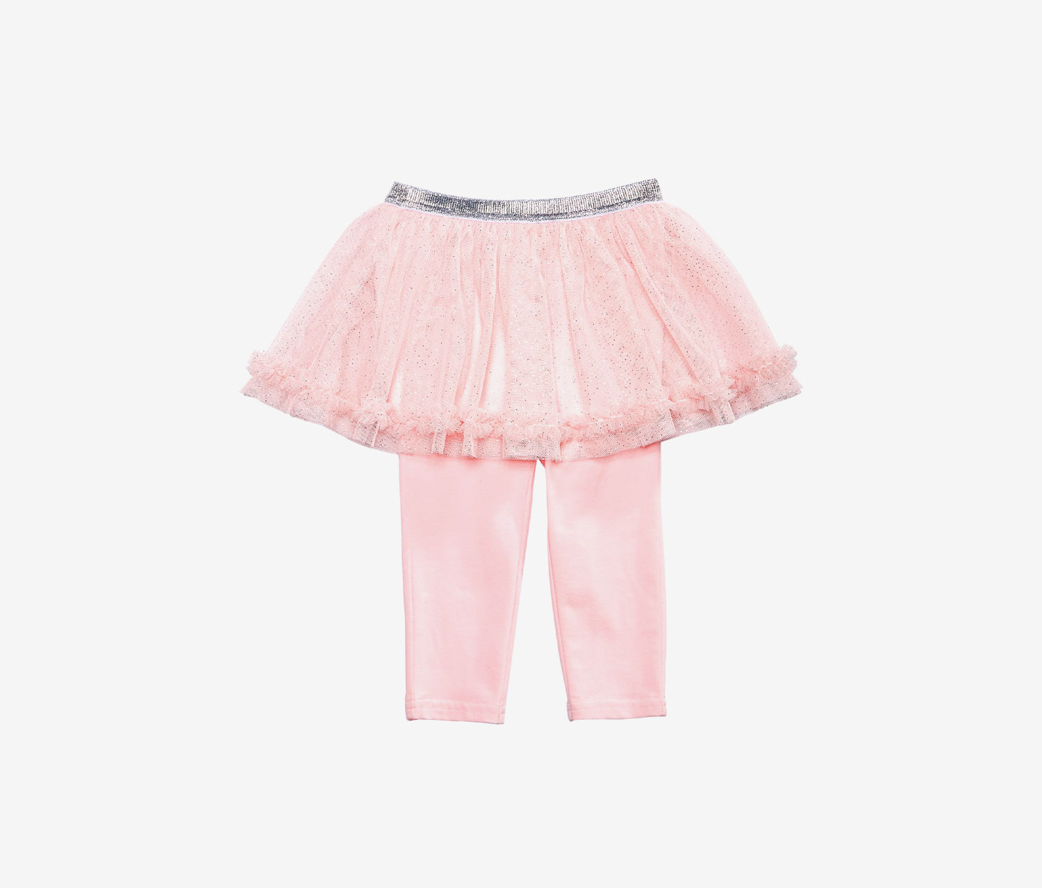 Baby Girls Tutu Leggings, Pastel Rose