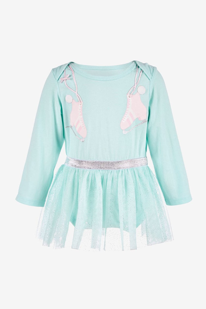 Baby Girls Skate-Print Tutu Bodysuit, Windmill Wings