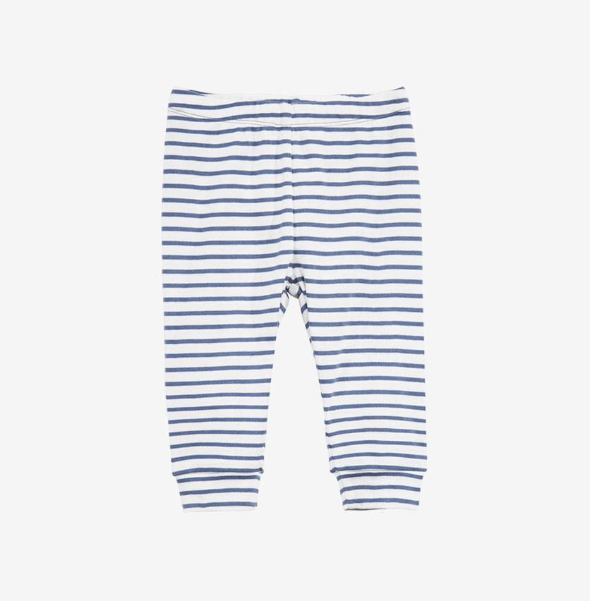 Baby Boys Striped Cotton Jogger Pants, Blue/White