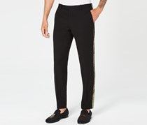 International Concepts Men's Slim-Fit Gold Stripe Pants, Deep Black