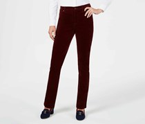 Charter Club Women's Petite Lexington Corduroy Pants, Maroon