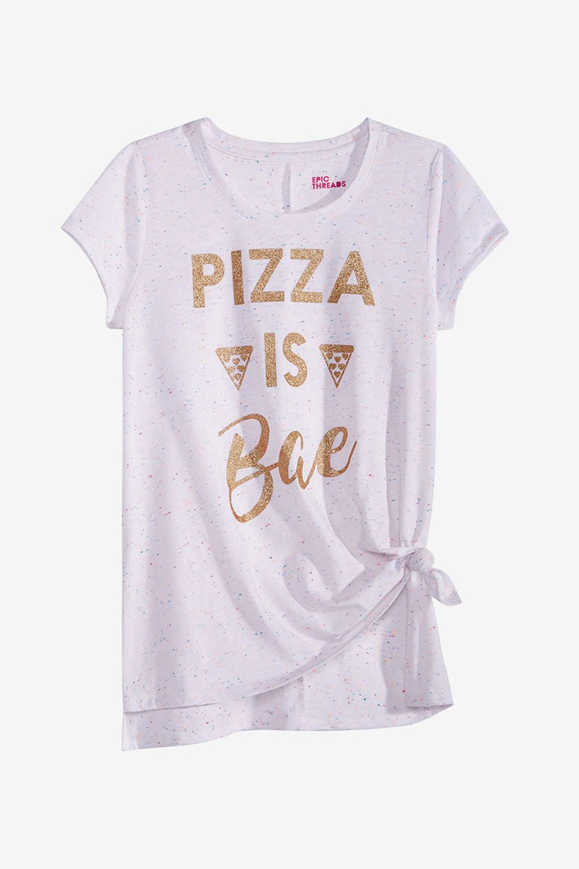 Big Girls Graphic-Print T-Shirt, Bright White