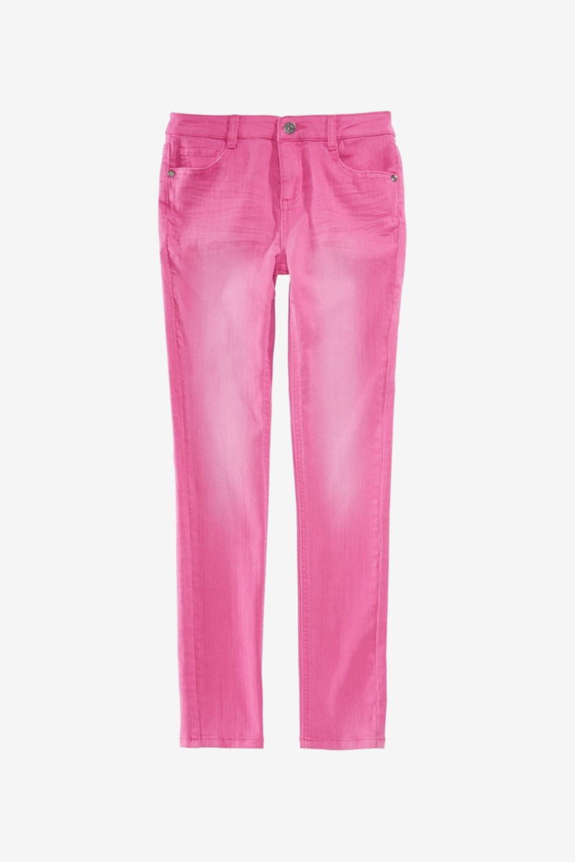 Girls Faded Jeans, Magenta